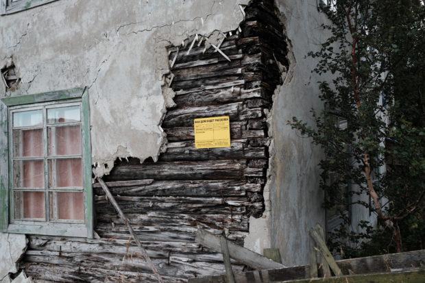 August 2016: House listed for abandonment and demolition in 2017. Photo: Bjørnar Olsen
