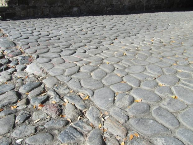Ballast stones paving the streeets of Savannah | object matters